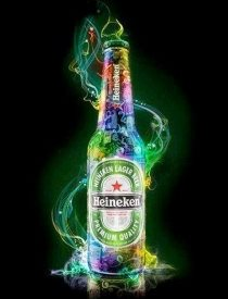 Heineken bier Art Work